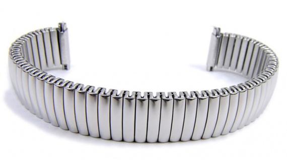 Minott Flex Band Uhrenarmband Edelstahl Zugband mit Teleskop-Anstoß 21118