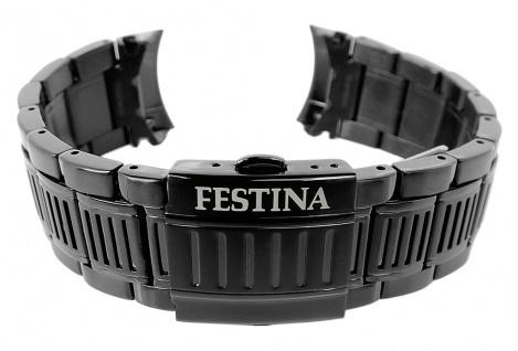 Festina Chrono Bike Ersatzband aus Edelstahl matt schwarz mit Faltschließe F20354
