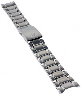 Casio Armband | Uhrenarmband Edelstahl Band Silberfarben für Edifice EF-341DY