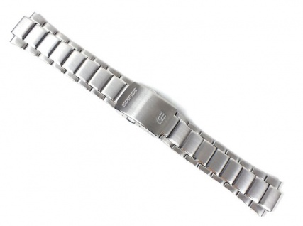 Casio Uhrenarmband Edelstahl Band Silberfarben für EF-526 EF-526D