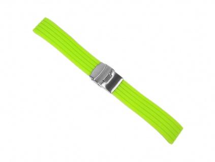 Minott Rubber Uhrenarmband Silikon Band Neon Grün 22457