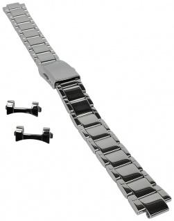 Casio Armband | Uhrenarmband Edelstahl Band Silberfarben für Collection LTP-1300D