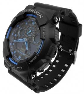 Casio G-Shock digitale Herrenuhr schwarz Resinband GA-100-1A2ER GA-100