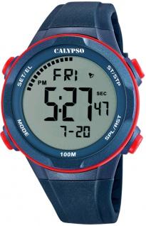 Calypso digitale Armbanduhr | Kunststoffgehäuse & Band > mehrfarbig | Datum > Alarm K5780/4