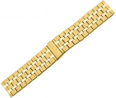 Minott Uhrenarmband Edelstahl/PVD gelbgoldfarben matt/glatt Extra Breit