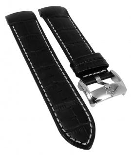 Jaguar Ersatzband Leder schwarz Krokooptik Kontrastnaht J630 J631 J632 J635