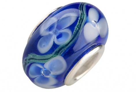 Charlot Borgen Marken Damen Bead Beads Drops Kristallglas Silberkern GPS-04Blau