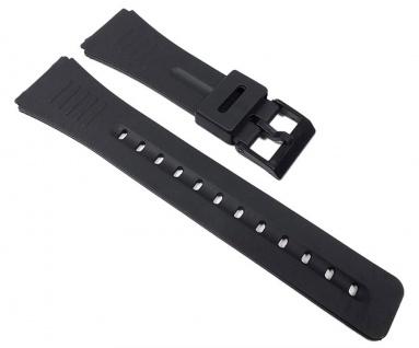 Uhrenarmband Kunststoff Band glatt schwarz 22mm Minott 23240