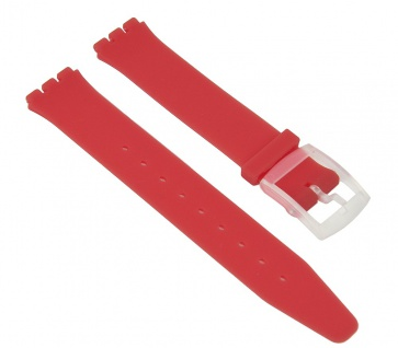 Minott Uhrenarmband Silikon Band Rot passend zu Swatch Uhren Skin 16mm 27173