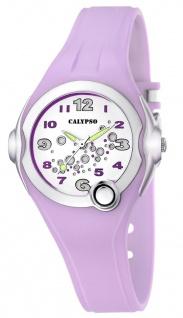 Calypso Damenarmbanduhr flieder K5562/4 Kunststoff Mineralglas