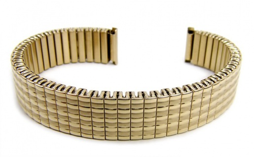Minott Flex Band Uhrenarmband Edelstahl Zugband Goldfarben 14mm 21078