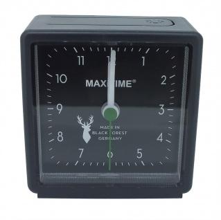 Maxitime Wecker Analog Beleuchtung Kunststoff schwarz ansteigender Alarm 37943