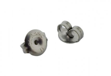Minott Erstohrstecker Stopper - Ohrstecker-Verschluss - Ohrmutter aus Titan - 29062