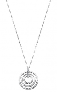 Lotus Silver Pure Essential Halsschmuck Kette mit Anhänger Ringe Zirkonia LP1755-1/1