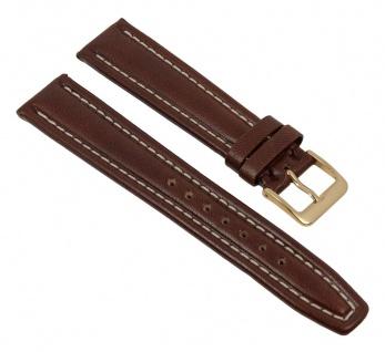 Graf Manufaktur Montana F Uhrenarmband Leder Band Dunkelbraun 26382G
