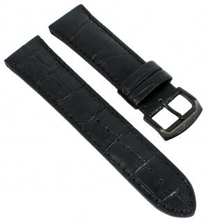 Citizen Uhrenarmband Ersatzband 22mm Leder Band schwarz mit Krokoprägung