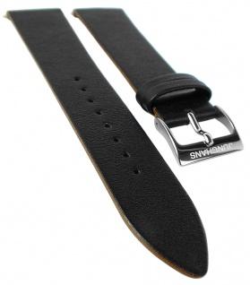 Junghans Uhrenarmband 21mm Leder weich schwarz glatt 041/4770 041/4773