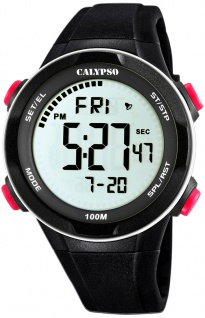 Calypso digitale Armbanduhr | Kunststoffgehäuse & Band > schwarz | Datum > Alarm K5780/2