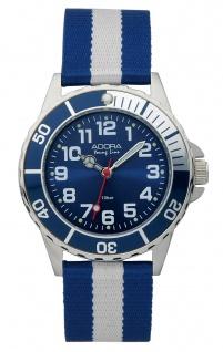 Armbanduhr Analoguhr Sportuhr für Jungen Edelstahl mit Textilband Adora Young Line 28477