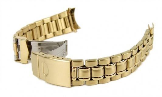 Stalux Marken Uhrenarmband 6 x Wechselantoß IP Gelbgold 18mm 20mm 22mm