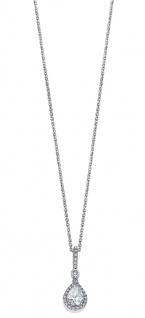 Lotus Silver Halsschmuck Collier Kette mit Anhänger und Zirkonia Silber LP1592-1/1