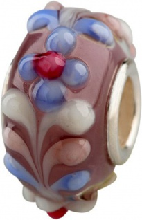 Charlot Borgen Marken Damen Bead Beads Drops Kristallglas Silberkern GPS-57Violett