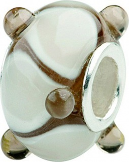 Charlot Borgen Marken Damen Bead Beads Drops Kristallglas Silberkern GPS-37Braun