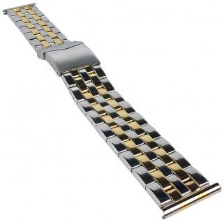 Minott | Uhrenarmband Edelstahl Band bicolor mit Sicherheitsverschluss 30891