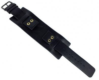 Bruno Banani NYX | Unterlageband 22mm aus Leder in schwarz glatt | BS3 915 301