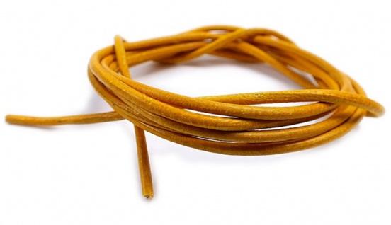 Minott Halskette Ziegenleder Lederriemen Lederband 100cm Gelb 22083