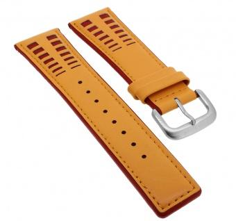 Bruno Banani Magic Egg Ersatzband 24mm in orange /rot aus Leder ME4 032 332 BR20623 BR20618