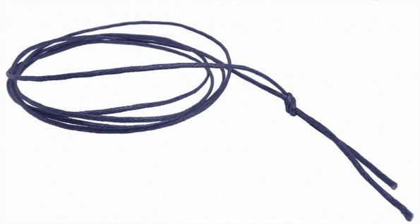 Minott Schnur Halskette blau Band aus Baumwolle gewachst Ø2mm L 100cm