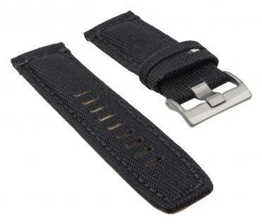 Timex Uhrenarmband Leder/Textil schwarz 22mm für T49824, T49823, T49825