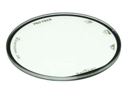Casio Pro Trek Mineralglas rund schwarzer Rand PRW-3000T-7 rund flach