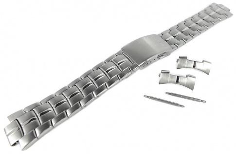 Casio Armband | Uhrenarmband Edelstahl Band Silberfarben für Collection MTP-4500D
