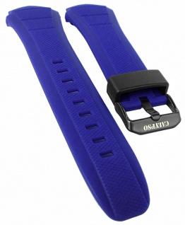 Calypso Ersatzband blau Kunststoff schwarze Dornschließe Spezial Anstoß K5676/4 K5676