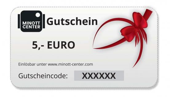 Minott Center   Geschenk-Gutschein im Wert von 5 Euro