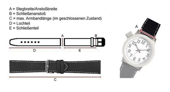 Ersatzband Uhrenarmband Kautschuk Band braun passend zu Festina F16670/1 F16670/alle F16505 - Vorschau 2