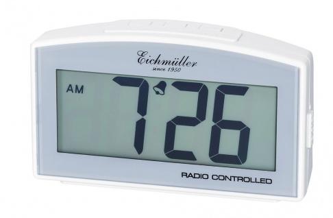 Wecker Reisewecker Alarm Digital Kunststoff weiß mit Schlummer Funktion