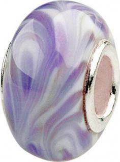 Charlot Borgen Marken Damen Bead Beads Drops Kristallglas Silberkern GPS-21Violett