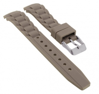 s.Oliver Uhrenarmband Silikon Band 17mm grau weich SO-2575-PQ