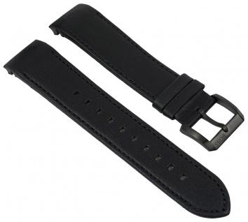 Hugo Boss Uhrenarmband Leder schwarz 22mm passend zu 1513274 HB.244.1.34.2820