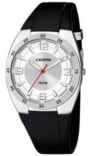 Calypso Herrenuhr analog schwarz Kunststoff Armbanduhr Uhr PU-Band Quarzuhr K5753/1 K5753