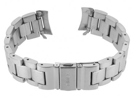 Timex Herren Ersatzband 20mm Edelstahl matt silberfarben runder Anstoß TW2R46000