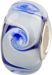 Charlot Borgen Marken Damen Bead Beads Drops Kristallglas Silberkern GPS-38Blau