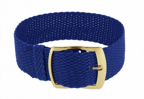 Minott Durchzugsband blau geflochten Perlon gleichlaufend Dornschließe