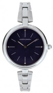 Damenuhr Armbanduhr Analoguhr Edelstahl silberfarben mit Faltschließe Adora Design 28431