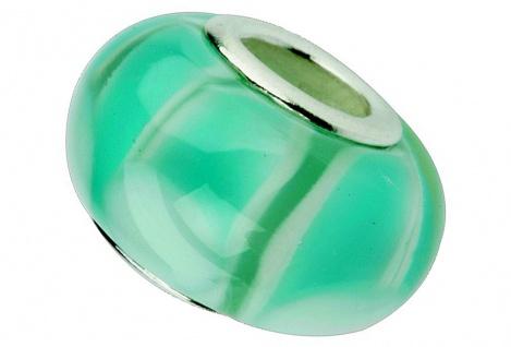 Charlot Borgen Marken Damen Bead Beads Drops Kristallglas Silberkern GPS-47Türkis