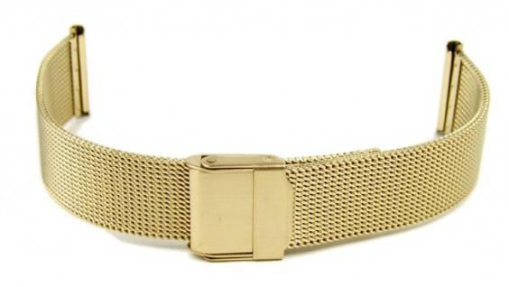 Uhrenarmband Milanaise Edelstahl Band IP Gold 20mm 19549G