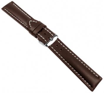 Swiss Chrono I Uhrenarmband Kalbsleder Dunkelbraun 20645S